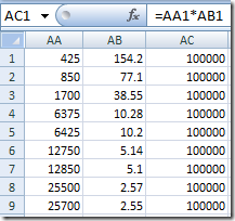 Excel bug example number pairs