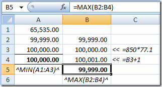 Fun With Min and Max in Excel 2007