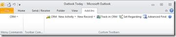 CRM Outlook client pre-RU11