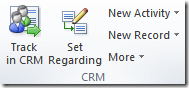 CRM Outlook Client Ribbon Group
