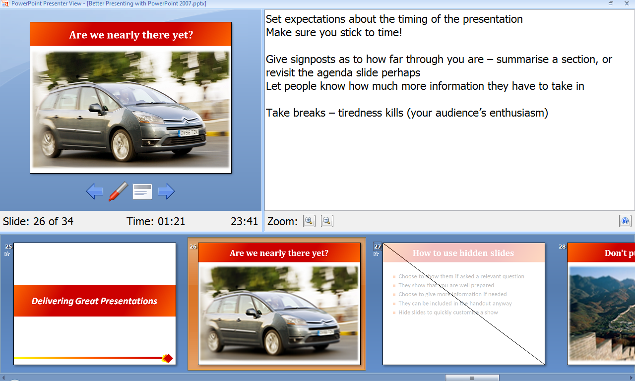 Using Powerpoint Presenter View To Help Deliver Great
