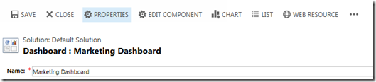 Dashboard 2015 with properties button